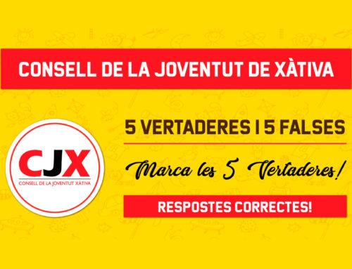 Repte de vertader i fals sobre les associacions del CJX a Instagram. Participa!