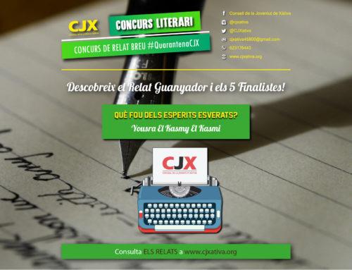 Anunciem el Relat Guanyador i els 5 Finalistes del Concurs de Relat Breu #QuarantenaCJX