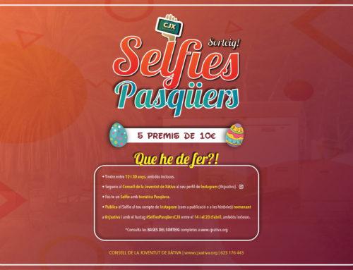 """Presentem el """"Sorteig de Selfies Pasqüers"""" amb 5 premis de 10€. Participa del 14 al 20 d'abril!"""