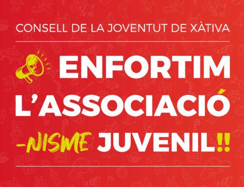 El CJX apropa les associacions juvenils a les cases de la ciutat amb el lema 📣Enfortim l'Associació-nisme Juvenil !!