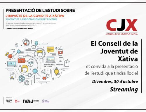 El CJX presenta l'estudi sobre l'impacte de la Covid19: Joventut i Associacionisme juvenil de Xàtiva