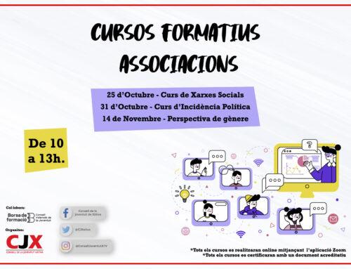El Consell de la Joventut de Xàtiva ofereix 3 formacions gratuïtes per a les associacions