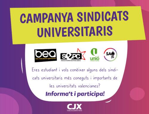 """El CJX llança la campanya """"Conèix els Sindicats d'Estudiants Universitaris"""""""
