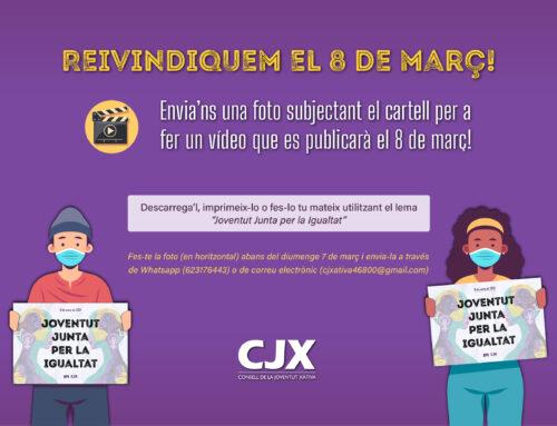 El Consell de la Joventut de Xàtiva prepara un vídeo per al 8M amb la participació de la ciutadania.