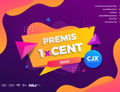 """El Consell de la Joventut de Xàtiva convoca el concurs de projectes juvenils """"Premis 1xCENT"""""""