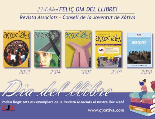"""El Consell de la Joventut de Xàtiva celebra el Dia del Llibre animant a la lectura de la """"Revista Associats"""""""