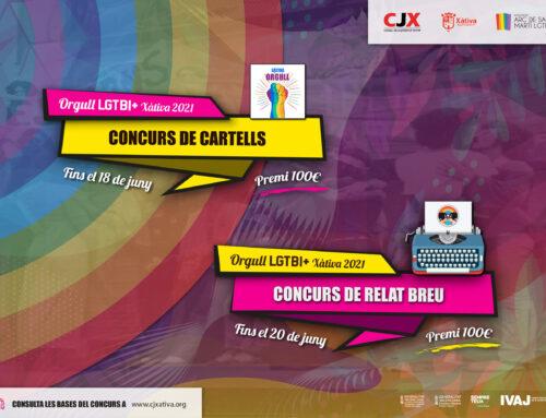"""Ja es pot participar als """"Concursos de Cartells i de Relat Breu"""" de l'Orgull LGTBI+ Xàtiva 2021"""
