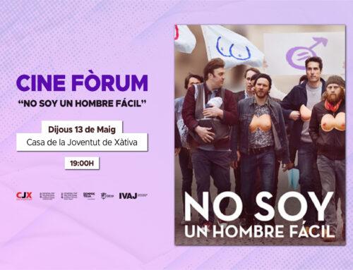 """El CJX organitza un Cine Fòrum amb la pel·licula """"No soy un hombre fácil"""" el dijous 13 de maig"""