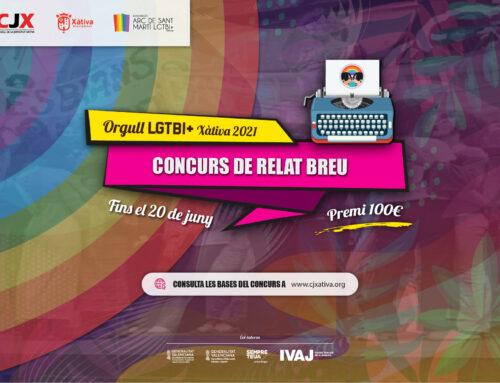 """Es convoca el """"Concurs de Relat Breu Orgull LGTBI+ 2021"""" fins el 20 de juny amb un premi de 100€"""