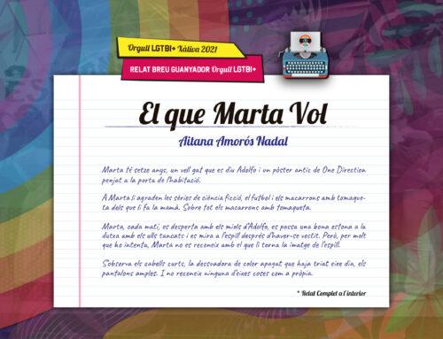 """Aitana Amorós es proclama guanyadora del """"Concurs de Relat Breu Orgull LGTBI+ Xàtiva 2021"""""""