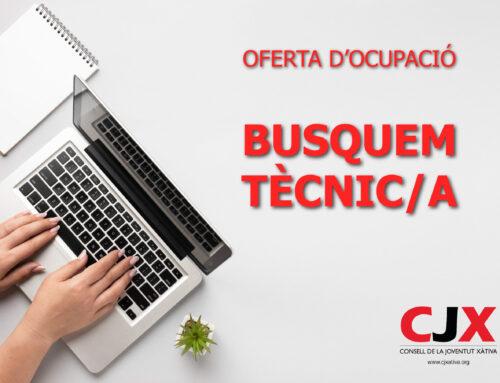 El Consell de la Joventut de Xàtiva busca personal tècnic